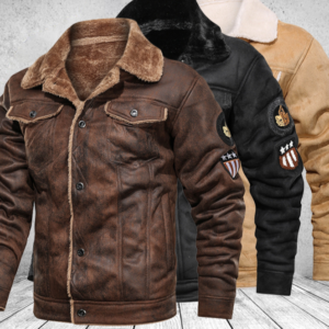 Pánská kožená zimní bunda Mike