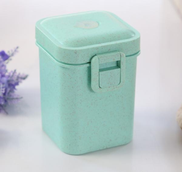 Bento set na jídlo s příborem - box a láhev na vodu