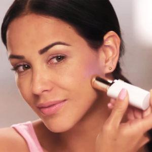 Módní depilátor ve tvaru rtěnky pro ženy