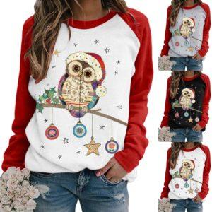 Dámské tričko s dlouhým rukávem Owl