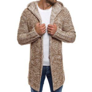 Pánský svetr dlouhý s kapucí Jack