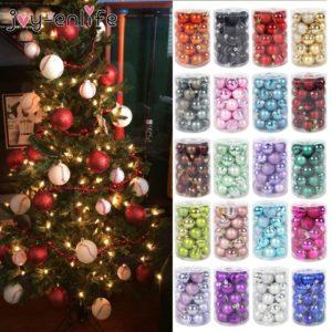 Sada vánočních ozdob - různé barvy