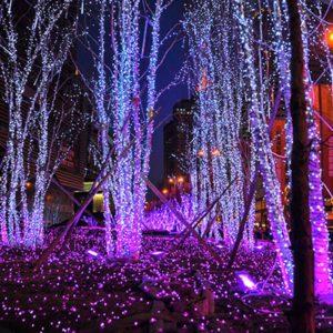 Vánoční ozdobná světla 100ks LED