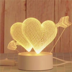 3D hologramová lampa - různé motivy