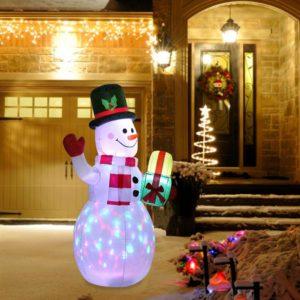 Obří LED nafukovací sněhulák - venkovní dekorace