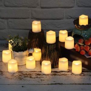 Sada umělých LED svíček - 12 ks