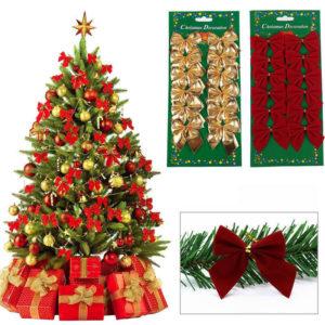Mašle s drátkem na vánoční stromeček