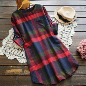 Dámské podzimní šaty ve volném střihu