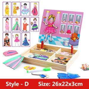 Dětská dřevěná hra / puzzle : Vytvoř podle fantazie