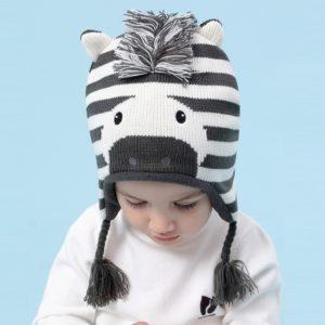 Dětská zimní čepice přes uši Kris