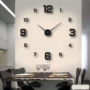 Nástěnné samolepící hodiny