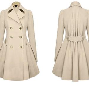 Dámský podzimní stylový kabát