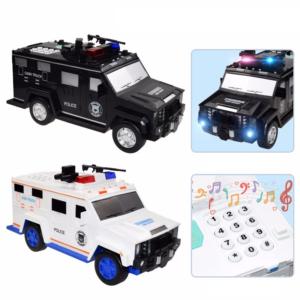 Dětská auto kasička na ukládání peněz pomocí hesla a otisku prstu