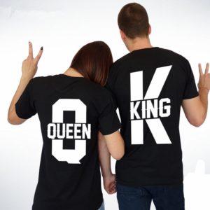 Originální párová trika King a Queen