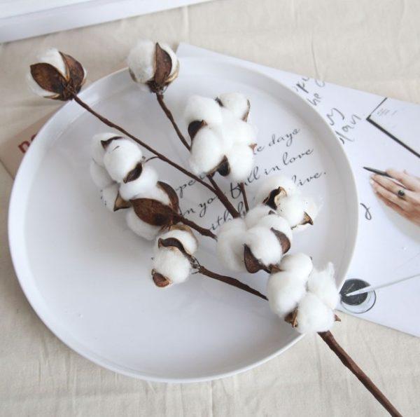 Umělý domácí dekor bavlněné květiny