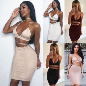 Dámský sexy set - crop top + sukně