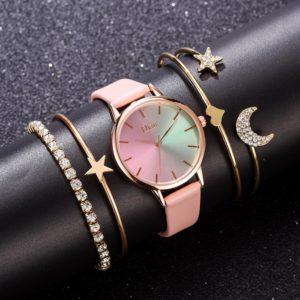 Dámské elegantní hodinky v sadě s řetízky Diana