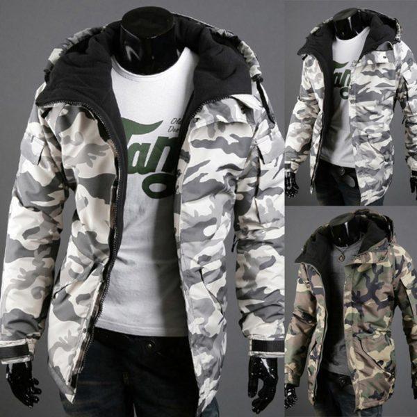 Pánská zimní maskáčová bunda větruvzdorná - 2 typy