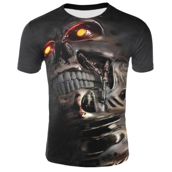 Pánské cool tričko s lebkou - krátký rukáv