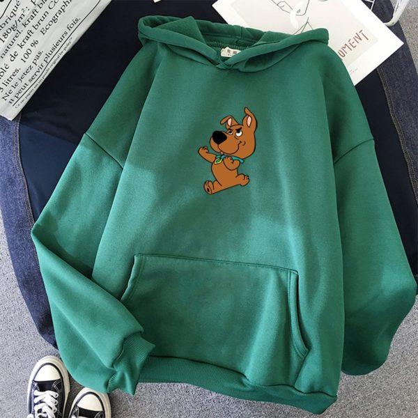 Oversize mikina s kapucí a se Scoobym