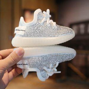 Štrasové dětské boty