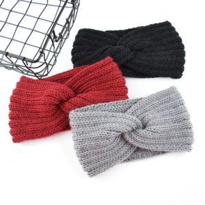 Dámské trendy pletené zimní čelenky - různé barvy