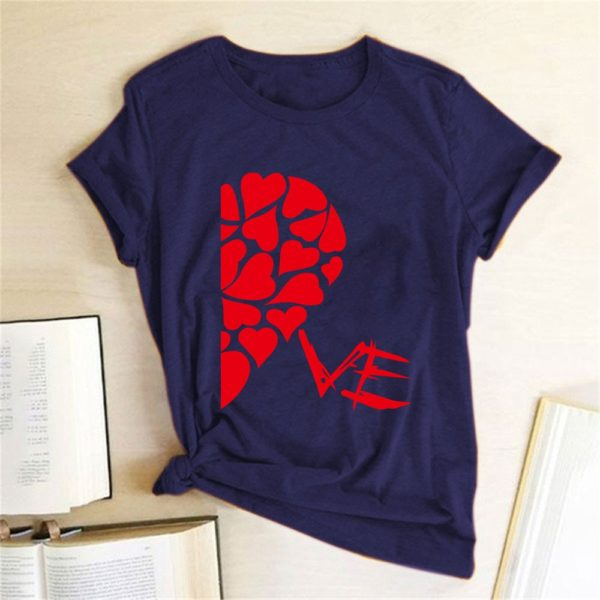 Valentýnské tričko pro zamilované páry s polovinou srdce