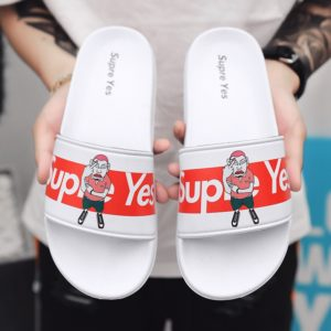 2021 New Women Men Slippers Couple Flip-Flops Big Size 36-46 Thick Sole Black White Slippers Breathable Lightweight Shoes TX242