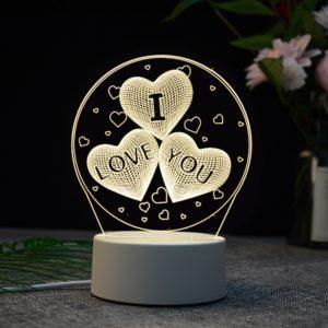 Akrylová 3D lampa Love