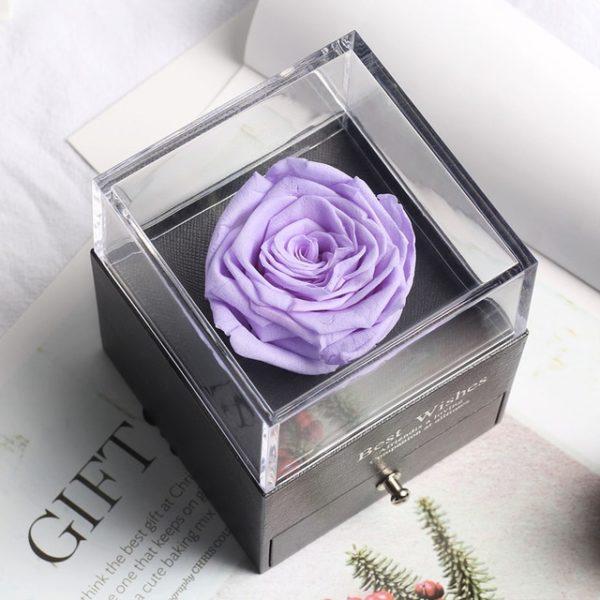 Dlouhotrvající růže v krabičce