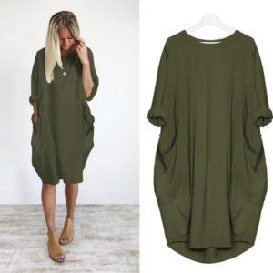 Dámské Plus Size šaty v BOHO stylu