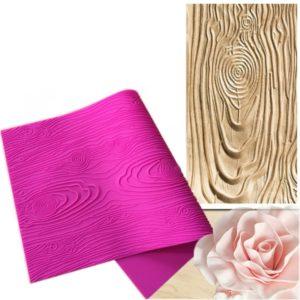 Silikonová forma - vzor dřeva