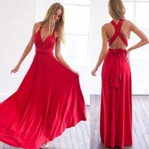 Dámské dlouhé elegantní vázací víceúčelové šaty Victoria