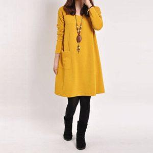 Dámské vintage šaty s dlouhým rukávem