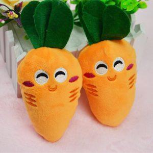 Roztomilé plyšové ovoce - meloun, mrkev, pomeranč