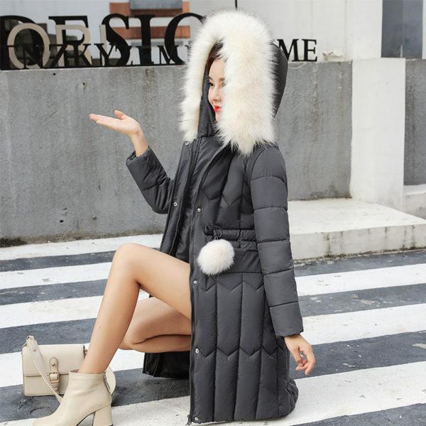 Dámský luxusní plus size kabát Anil