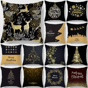 Černo zlaté povlaky na polštář