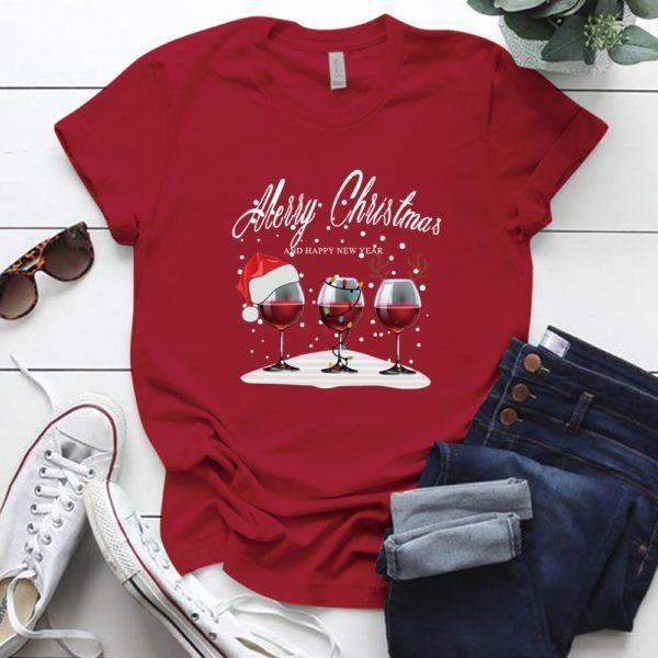 Univerzální vánoční Veselé Vánoce třičko s krátkým rukávem