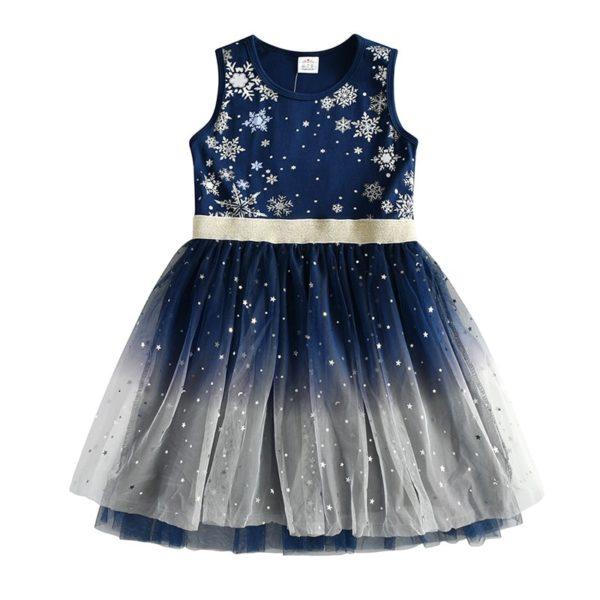 Volnočasové dětské dívč šaty se sukní pro zábavu