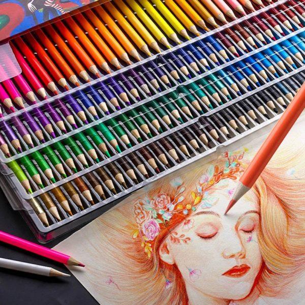 Profesionální barevné pastelky v sadě 120 barev