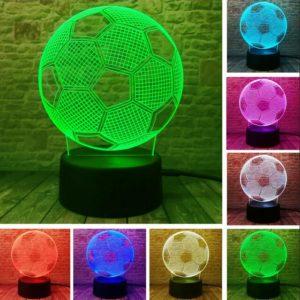 3D lampa ve tvaru fotbalového míče