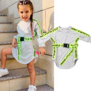 Dívčí módní mikinové šaty Misha - kolekce 2020