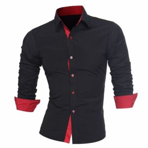 Pánská Slim Fit moderní košile s dlouhým rukávem
