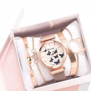 Luxusní dámský set náramků + hodinek Rinnandy