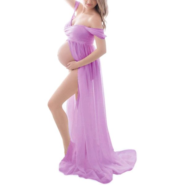 Nádherné šifonové těhotenské šaty