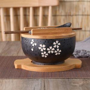 Japonská miska na polévku s příborem