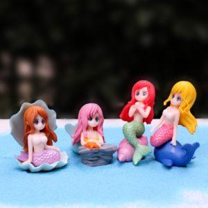Malé mořské víly - sada 4 ks miniaturních panenek