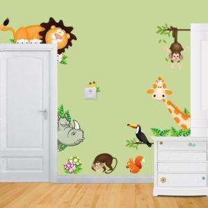 Zvířátkové samolepky na zeď