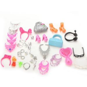 Set kabelek, brýlí, náušnic pro panenku Barbie - doplňky pro panenky
