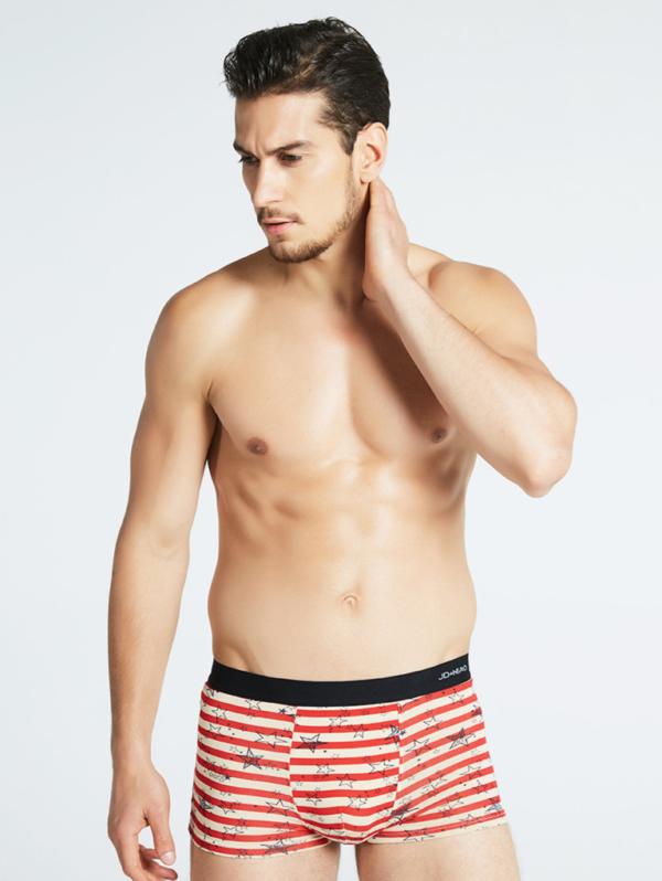 Sada 5ks pánských různobarevných bavlněných boxerek